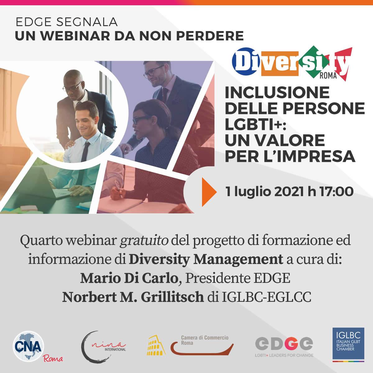 Webinar Diversity Manager | EDGE LGBTI+Leaders for change
