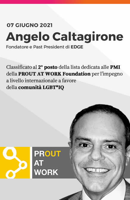 Angelo Caltagirone, 2° classificato PROUT AT WORK FOUNDATION | EDGE LGBTI+Leaders for change
